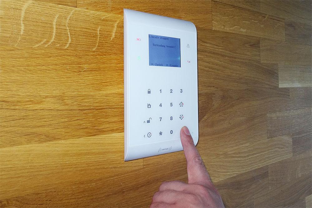 Bedienung Alarmzentrale